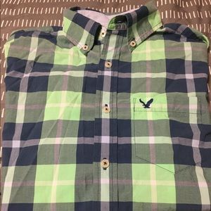 American Eagle Classic Fit Long Sleeve Button Up